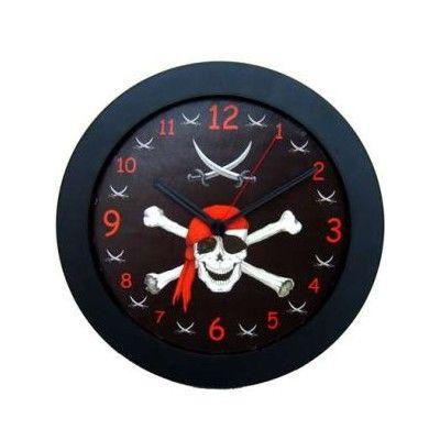 Väggklocka - Pirat