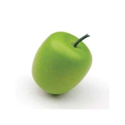 Leksaksmat - Äpple i trä, grönt