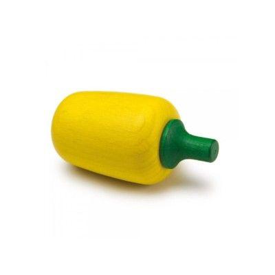 Leksaksmat - Paprika i trä - gul