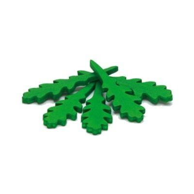 Leksaksmat - Ruccola i trä, 5 st