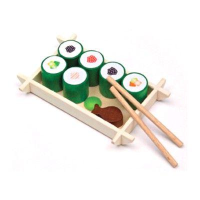 Leksaksmat - Sushi på träbricka