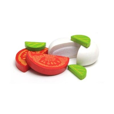 Leksaksmat - Mozzarella och tomat i plåtask