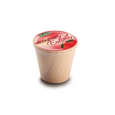 Leksaksmat - Yoghurt i trä - jordgubb
