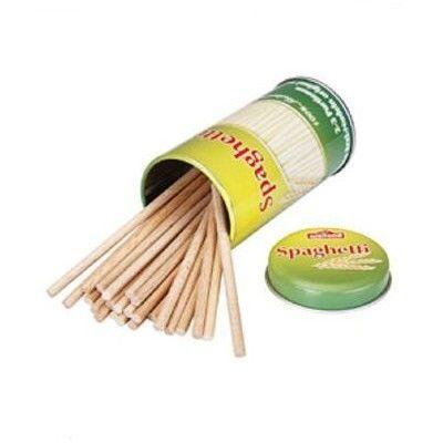Leksaksmat - Spaghetti i trä i plåtask
