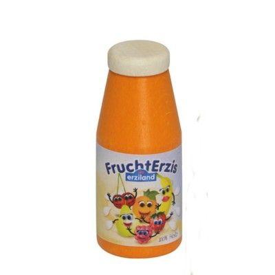 Leksaksmat - Drickyoghurt i trä - orange