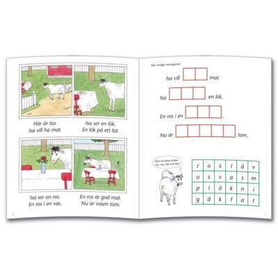 Läs- och skrivbok -  Isa är en ko