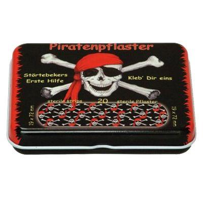 Piratplåster i plåtask