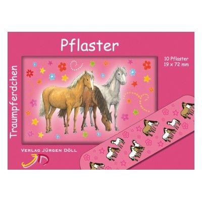 Plåster - hästar - rosa
