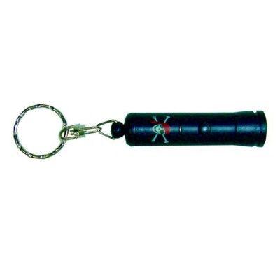 Ficklampa med nyckelring - dödskalle
