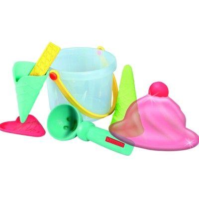 Sandset i härliga färger - glassar