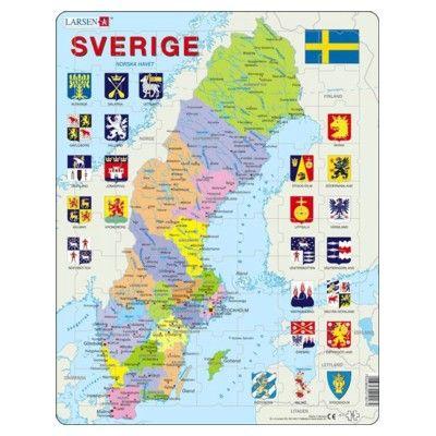 Pussel - Sveriges län