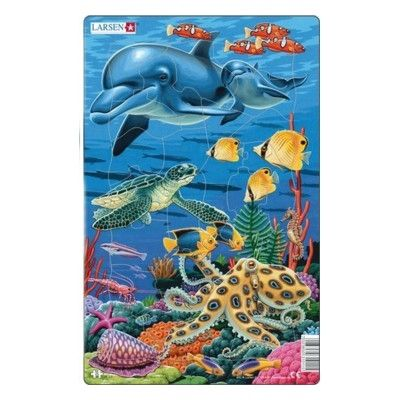 Pussel - Korallrev, delfin