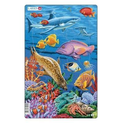 Pussel - Korallrev, haj