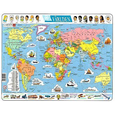 Pussel - Världskarta med världens folk