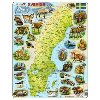 Pussel - Sverige - djur