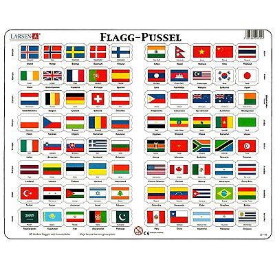 Pussel - Flaggor
