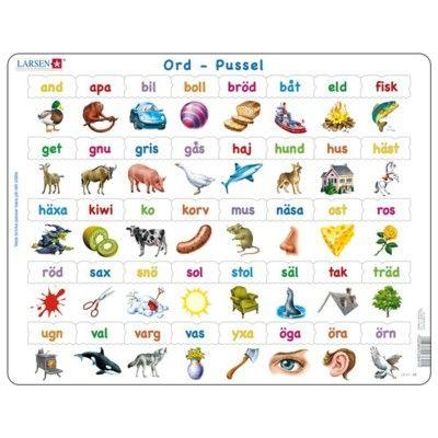 Pussel - ord med små bokstäver