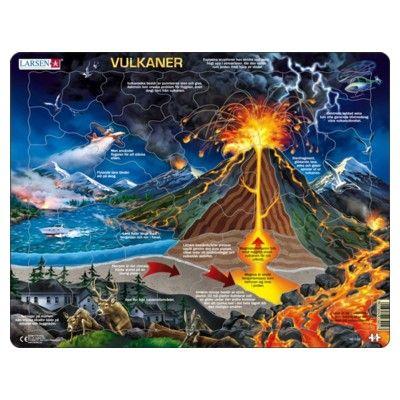 Pussel - Vulkaner