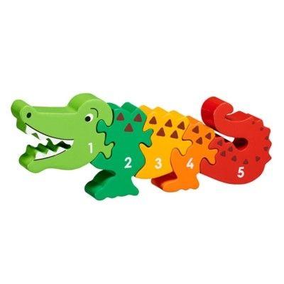 Pussel - Lär dig siffror 1-5 - Krokodil (Fair Trade) - Lanka Kade