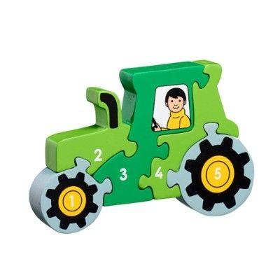 Pussel - Lär dig siffror 1-5 - Traktor (Fair Trade) - Lanka Kade