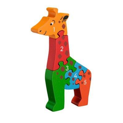 Pussel - Lär dig siffror 1-5 - Giraff (Fair Trade) - Lanka Kade