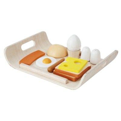 Leksaksmat - Frukostbricka i trä - ekologisk från PlanToys