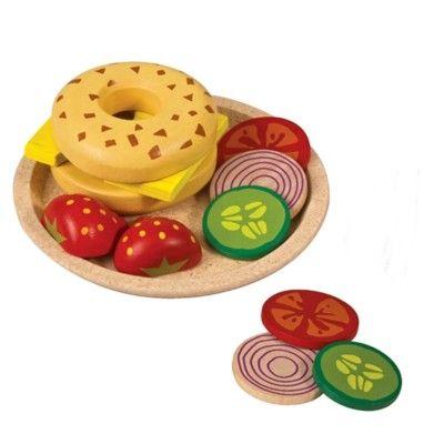 Leksaksmat - Bagel med ost - ekologisk från PlanToys