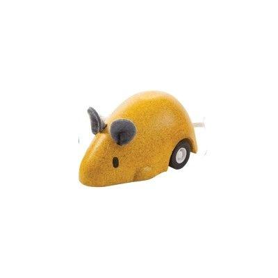 Leksaksbil - mus - gul - ekologisk från PlanToys