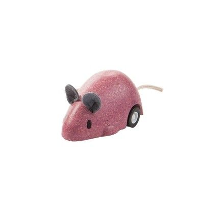 Leksaksbil - mus - rosa - ekologisk från PlanToys