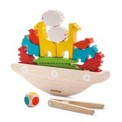 Balansspel med båt - ekologisk från PlanToys