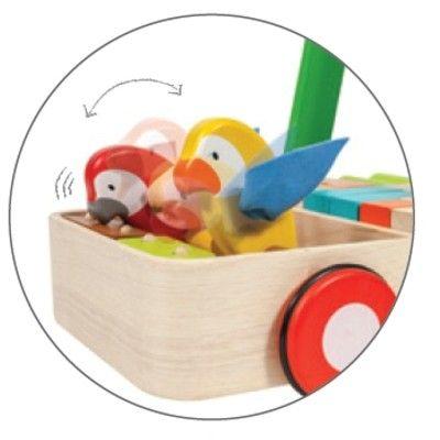 Gåvagn - fåglar - ekologisk från PlanToys