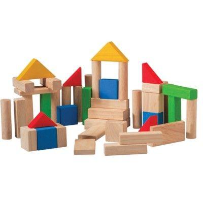 Byggklossar i trä - 50 st - ekologisk från PlanToys