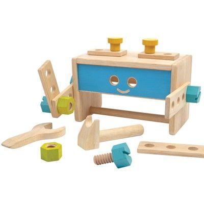 Verktygslåda med verktyg i trä - robot - ekologisk från PlanToys
