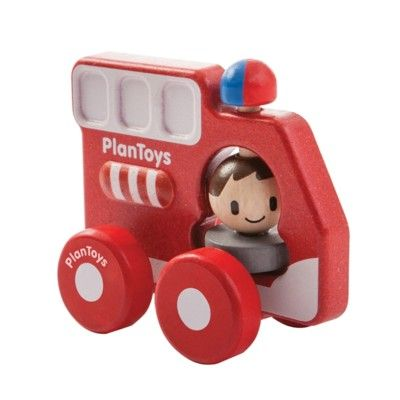 Träbil - brandbil - ekologisk från PlanToys