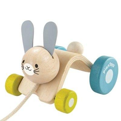 Dragleksak - skuttande kanin - ekologisk från PlanToys