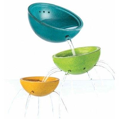 Badleksak - Tre skålar - ekologisk från PlanToys