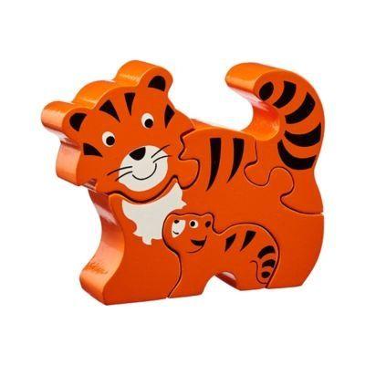 Pussel - Tiger - mamma med barn (Fair Trade) - Lanka Kade
