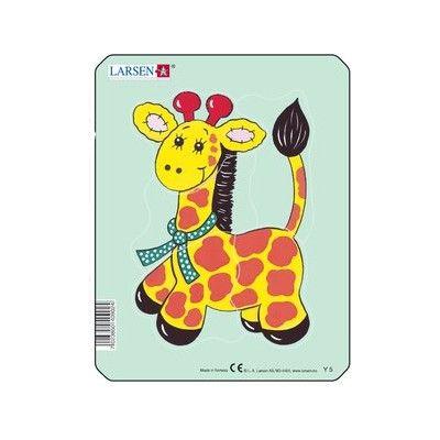 Pussel - mini - gullig giraff