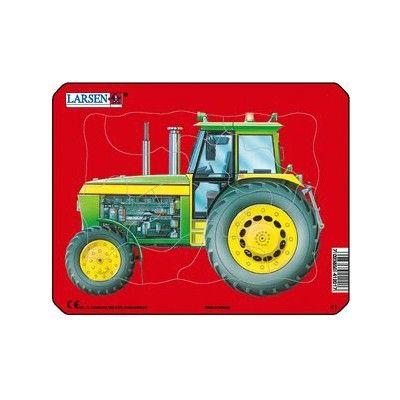 Pussel - mini - traktor (blå)