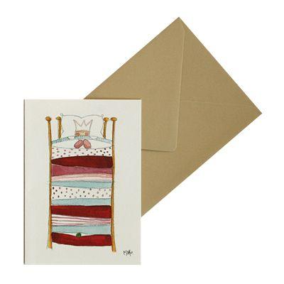Kort med kuvert - Prinsessan på ärten