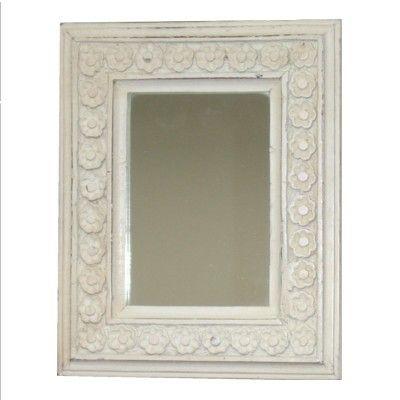 Liten vit spegel