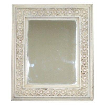 Mellanstor vit spegel
