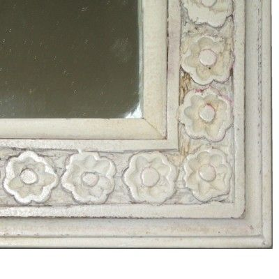 Stor vit spegel