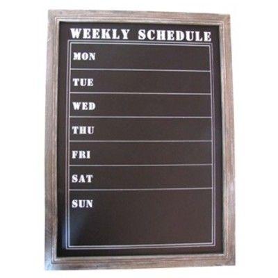 Griffeltavla med veckodagar - Weekly schedule