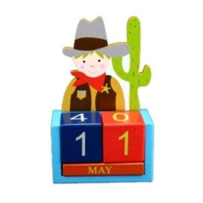 Kalender i trä - Cowboy