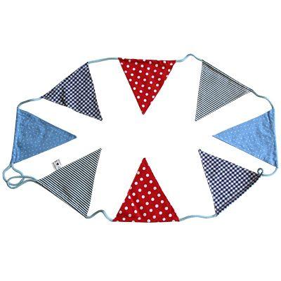 Flaggirlang, röd/blå