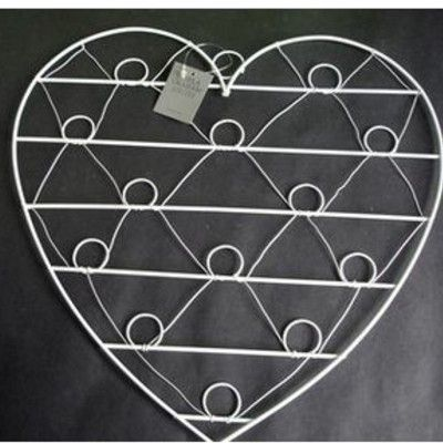 Anslagstavla i metall - vitt hjärta