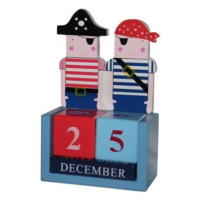 Kalender i målat trä - Pirat