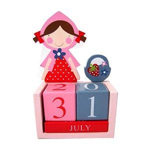 Kalender i trä - Strawberry