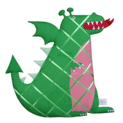 Mjuk anslagstavla grön drake